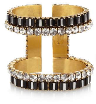 Erickson Beamon Gold-plated Swarovski crystal cuff