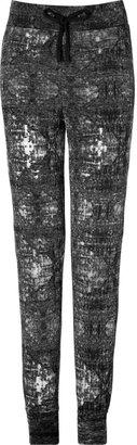 Closed Cotton Jersey Tie-Dye Pants in Black