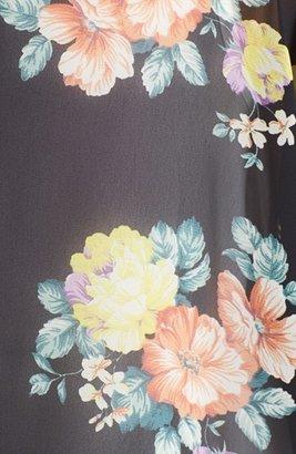 Lush Lace Inset Woven Kimono (Juniors)