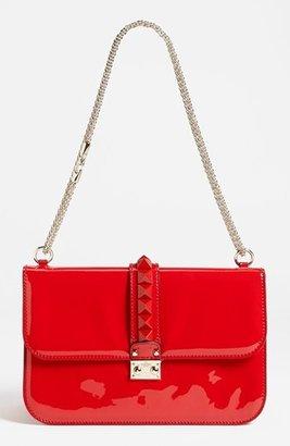 Valentino 'Punkouture - Lock' Leather Shoulder Bag