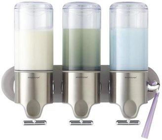 Container Store Twin Shampoo & Soap Dispenser
