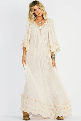 Jen's Pirate Booty Stevie Long Dress in Natural $149 thestylecure.com