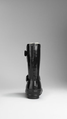 Burberry Shearling Lined Belted Rain Boots