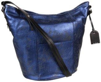 Cole Haan Crosby Metallic Bucket Bag (Blazer Blue Metallic) - Bags and Luggage