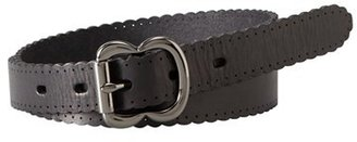 Fossil Scallop Edge Leather Belt $34 thestylecure.com