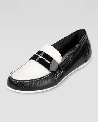 Cole Haan Monroe Deconstructed Penny Loafer, Black/White
