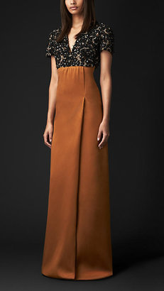 Burberry Beaded Stretch-Silk Dress