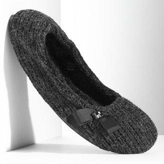 Vera Wang Simply vera rhinestone bow ballerina slippers
