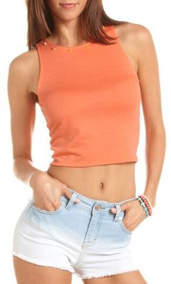 Charlotte Russe Studded Knit Crop Top