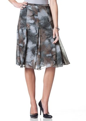 Coldwater Creek Tonal floral gored skirt