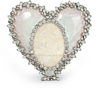 Jay Strongwater Pale Pink Oval & Heart Frame