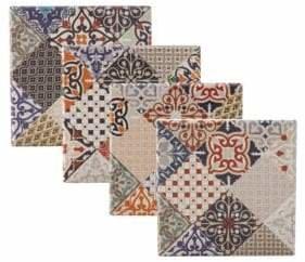 Maxwell & Williams Marrakesh Four-Piece Porcelain Coasters Set
