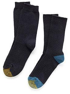Gold Toe 2-pk. Casual Rib Crew Socks