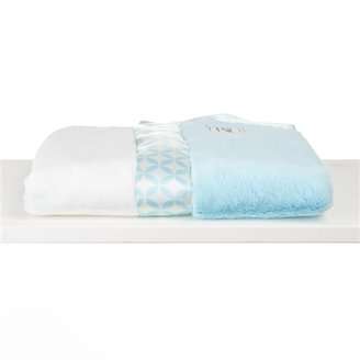 Little Giraffe Luxe Duo Geometric Circle Baby Blanket - Aqua