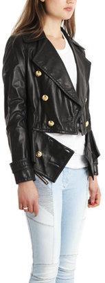 3.1 Phillip Lim Leather Breakaway Peacoat