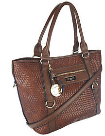 Liz Claiborne New York Basketweave Zip Pockets Tote $32.60 thestylecure.com