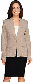 Liz Claiborne New York Textured Ponte Knit Blazer $57.50 thestylecure.com