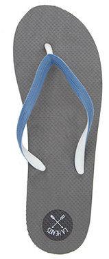 LA Hearts Eva Colorblock Silver Sandals