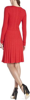 BCBGMAXAZRIA Keila Cable-Knit Dress
