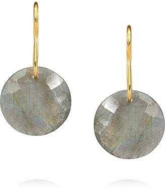 Monica Vinader Leo gold-plated labradorite earrings