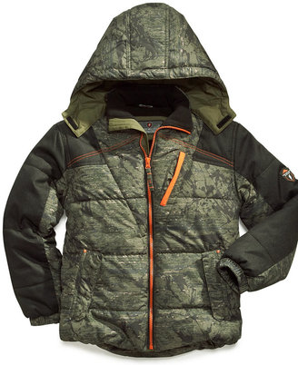 Protection System Jacket, Little Boys Printed Puffer Coat