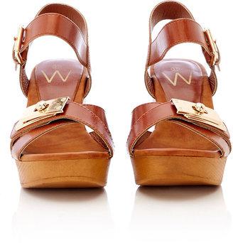 Wallis Brown Clog Sandal