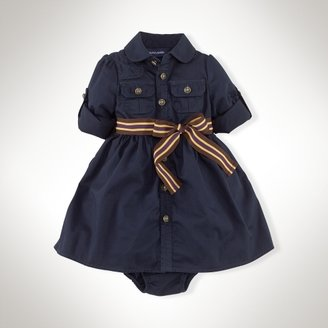 Twill Cargo Shirtdress