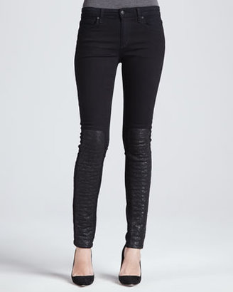 Joe's Jeans Corah Leather-Panel Skinny Jeans