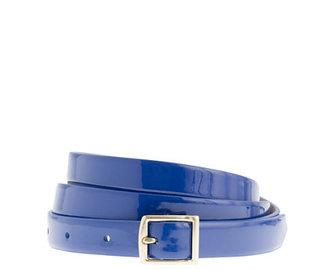 J.Crew Patent leather square-buckle belt