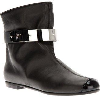 Giuseppe Zanotti Design metallic bar ankle boot