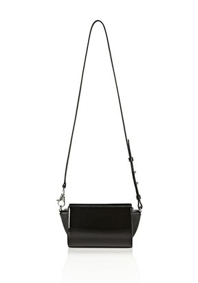 Alexander Wang Pelican Sling In Shiny Black With Rhodium