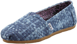 Toms Denim Huarache Slip-On, Blue Denim
