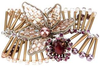 Tata Borello embellished crystal brooch