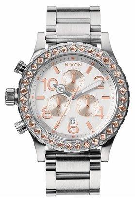 Nixon 'The 42-20 Chrono' Crystal Bracelet Watch, 42mm