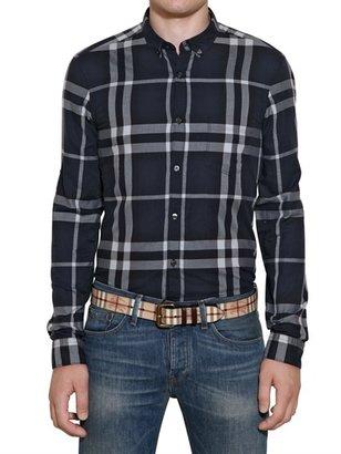 Burberry Light Cotton Checked Oxford Shirt