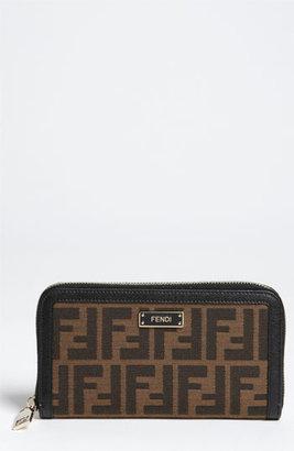 Fendi 'Zucca - Color' Zip Around Wallet