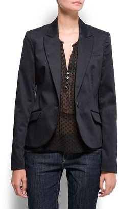 MANGO Satin finish blazer