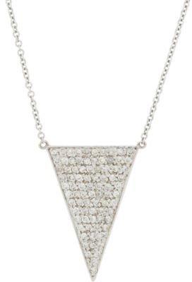 Jennifer Meyer Diamond and White Gold Upside Down Triangle Pendant Necklace