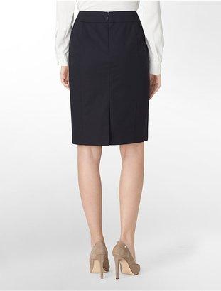 Calvin Klein Cotton Stretch Pencil Skirt