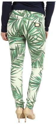 MICHAEL Michael Kors Petite Tropical Palm Skinny Jean in Kelly Green (Kelly Green) - Apparel