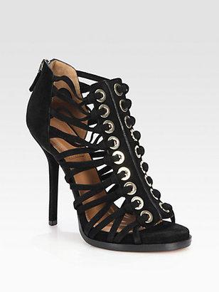 Givenchy Suede Gladiator Platform Sandals