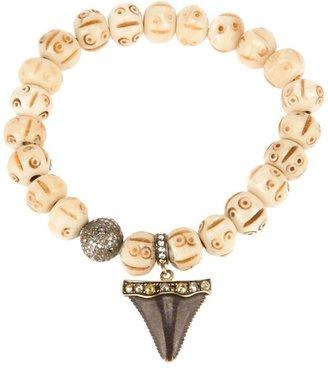 Loree Rodkin beaded shark tooth bracelet