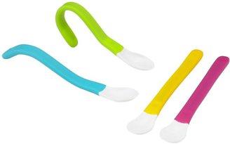 Fisher-Price Wrap Around Spoons - Green/Orange - 2 ct