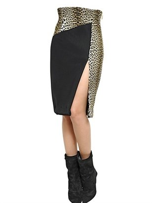 Ungaro Printed Cady & Neoprene Pencil Skirt