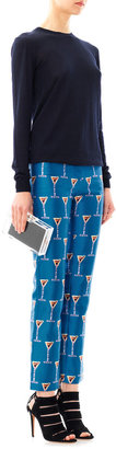 House of Holland Cocktail-print cropped trousers