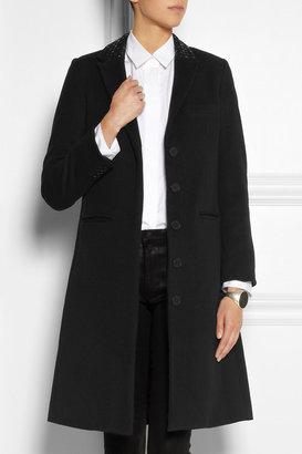 Karl Lagerfeld Odera studded wool-blend felt coat