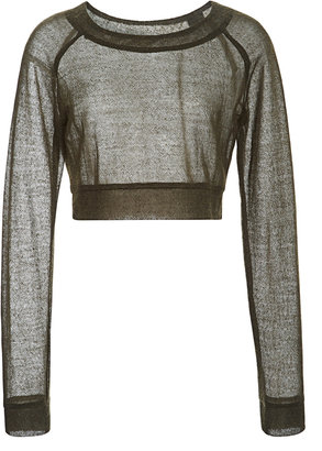 Peter Som Chunky Knit Cropped Sweater