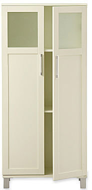 JCPenney Frosted Pane Tall Bathroom Cabinet
