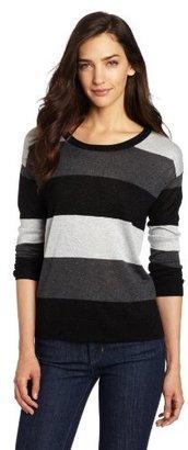 Kensie Women's Melange Lurex Knit Sweater