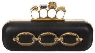Alexander McQueen Hammered Chain Knucklebox Clutch